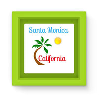 Santa Monica California Magnet Frame Green Homeware