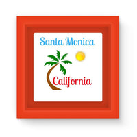 Santa Monica California Magnet Frame Red Homeware