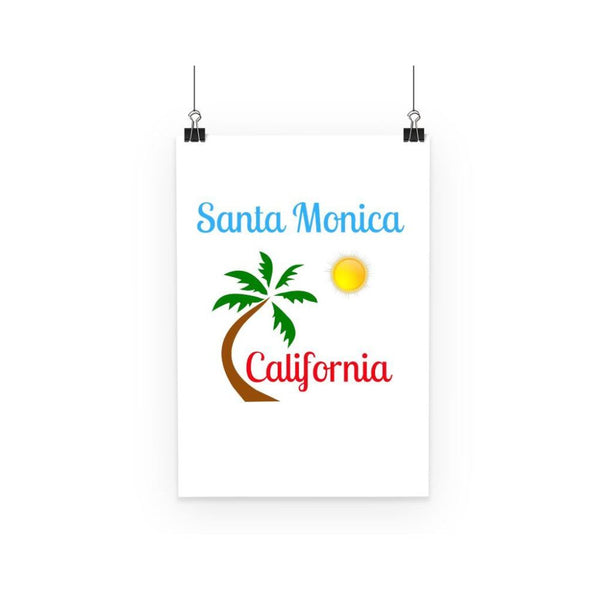 Santa Monica California Poster A3 Wall Decor