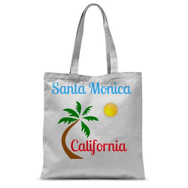 Santa Monica California Sublimation Tote Bag 15X16.5 Accessories