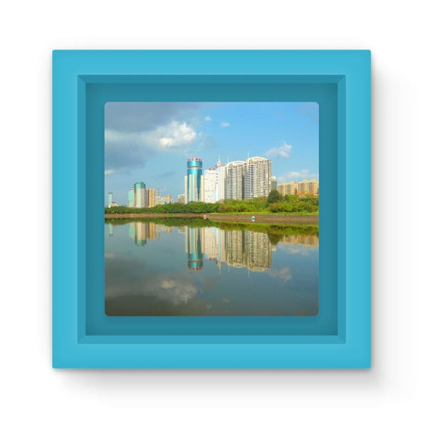 Shadows Of Buildings Magnet Frame Light Blue Homeware