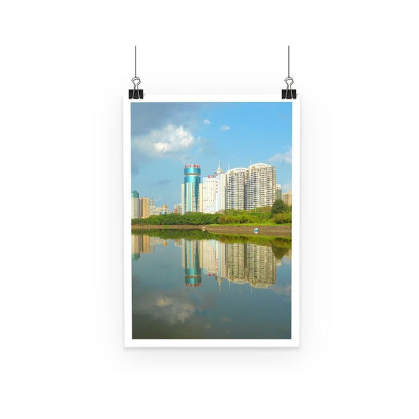 Shadows Of Buildings Poster A3 Wall Decor