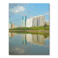 Shadows Of Buildings Stretched Eco-Canvas 11X14 Wall Decor