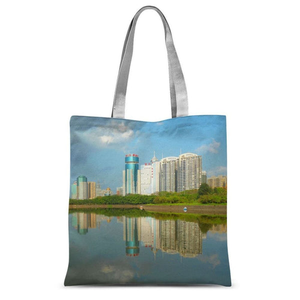 Shadows Of Buildings Sublimation Tote Bag 15X16.5 Accessories