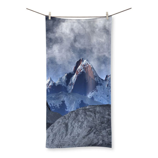 Sharped Edged Mountains Beach Towel 19.7X39.4 Homeware