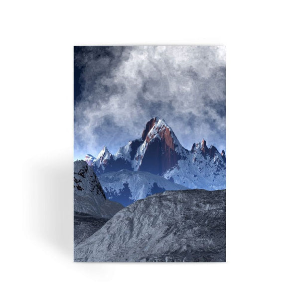 Sharped Edged Mountains Greeting Card 1 Prints