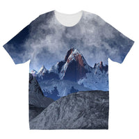 Sharped Edged Mountains Kids Sublimation T-Shirt 3-4 Years Apparel