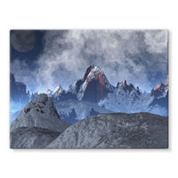 Sharped Edged Mountains Stretched Canvas 16X12 Wall Decor