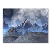 Sharped Edged Mountains Stretched Canvas 24X18 Wall Decor