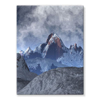 Sharped Edged Mountains Stretched Canvas 24X32 Wall Decor