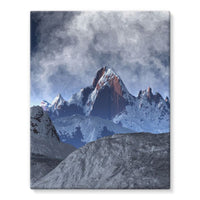 Sharped Edged Mountains Stretched Eco-Canvas 11X14 Wall Decor