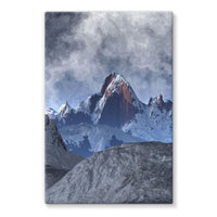 Sharped Edged Mountains Stretched Eco-Canvas 24X36 Wall Decor