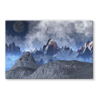 Sharped Edged Mountains Stretched Eco-Canvas 36X24 Wall Decor