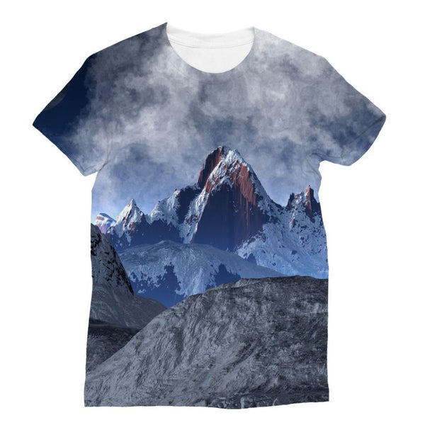 Sharped Edged Mountains Sublimation T-Shirt S Apparel
