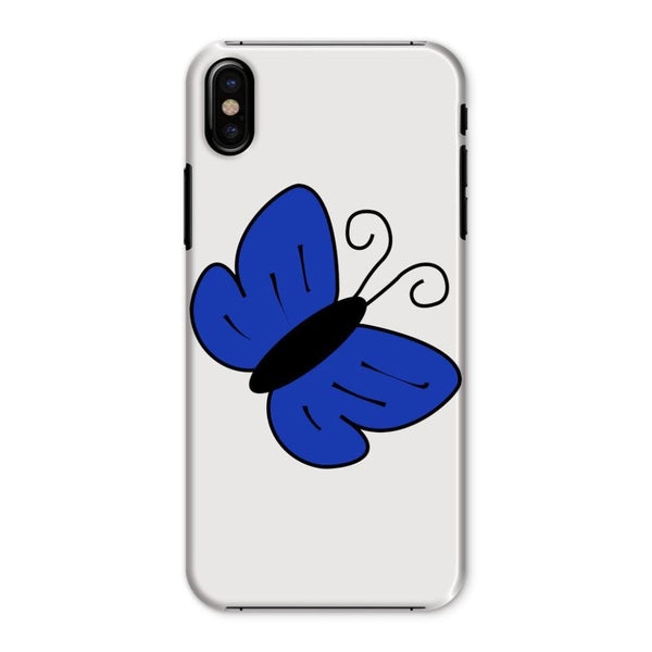 Simple Blue Butterfly Phone Case Iphone X / Snap Gloss & Tablet Cases
