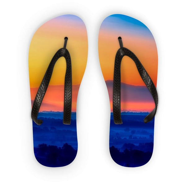Sky With Mountain Sunset Flip Flops S Accessories