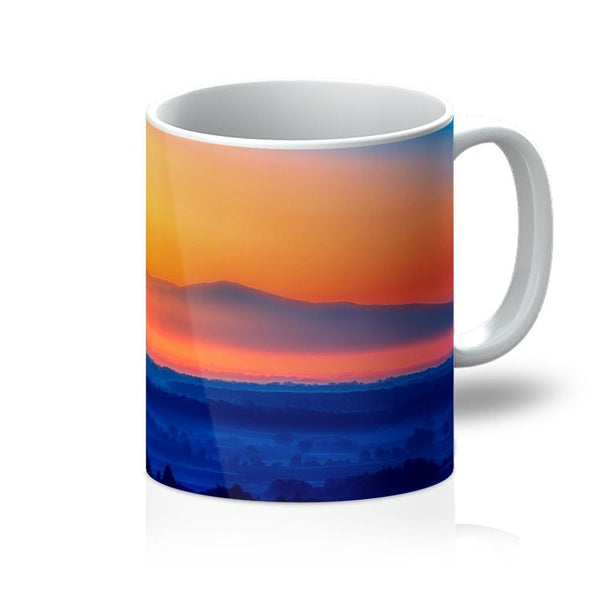 Sky With Mountain Sunset Mug 11Oz Homeware