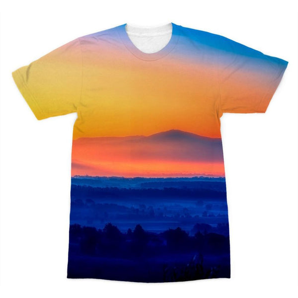 Sky With Mountain Sunset Sublimation T-Shirt Xs Apparel