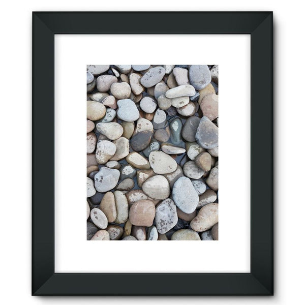 Small Stones Above The Water Framed Fine Art Print 12X16 / Black Wall Decor