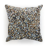 Small Stones Pattern Cushion Faux Suede / 12X12 Homeware
