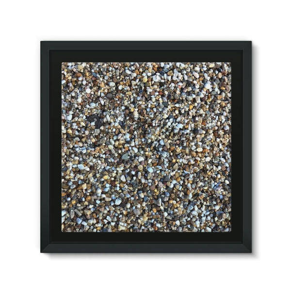 Small Stones Pattern Framed Canvas 12X12 Wall Decor