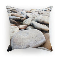 Smooth Pebbels On River Bank Cushion Faux Suede / 18X18 Homeware