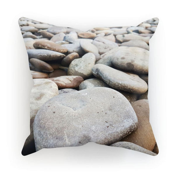 Smooth Pebbels On River Bank Cushion Linen / 12X12 Homeware