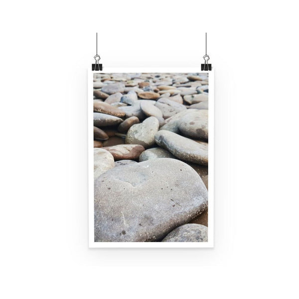 Smooth Pebbels On River Bank Poster A3 Wall Decor