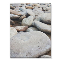 Smooth Pebbels On River Bank Stretched Eco-Canvas 18X24 Wall Decor