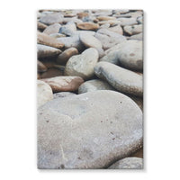 Smooth Pebbels On River Bank Stretched Eco-Canvas 24X36 Wall Decor