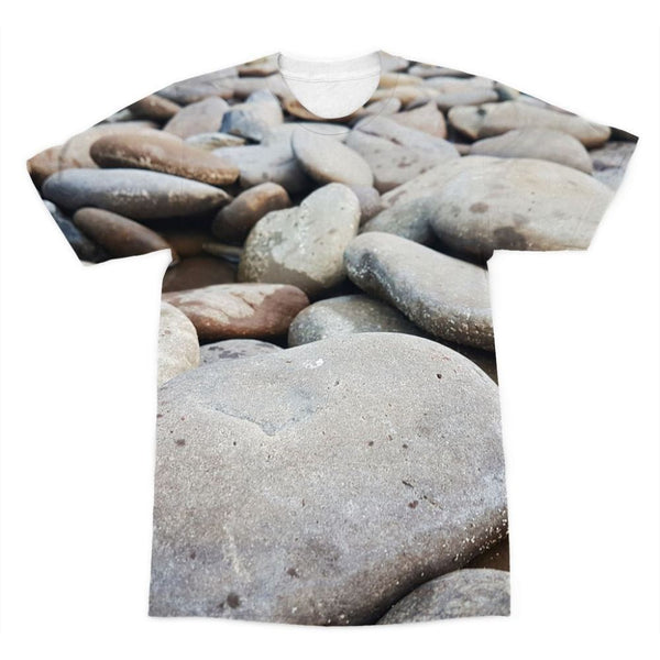 Smooth Pebbels On River Bank Sublimation T-Shirt Xs Apparel