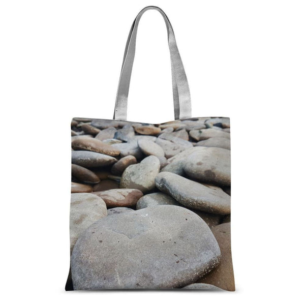 Smooth Pebbels On River Bank Sublimation Tote Bag 15X16.5 Accessories