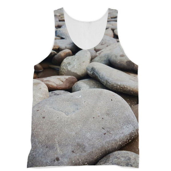 Smooth Pebbels On River Bank Sublimation Vest Xs Apparel