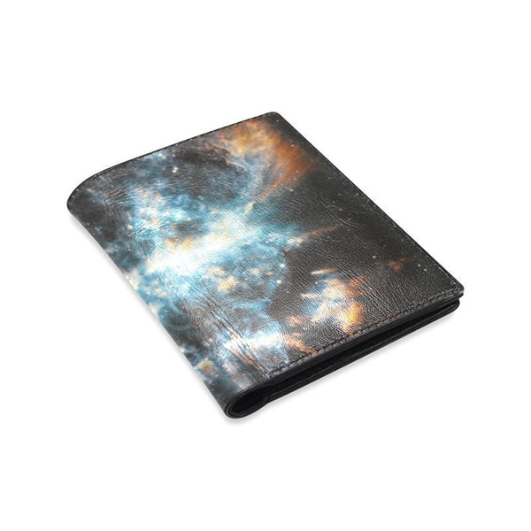 Spiral Nebula Space Mens Leather Wallet (1612)