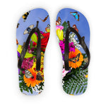 Spring Flowers Butterfly Flip Flops S Accessories
