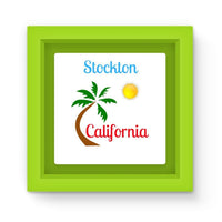 Stockton California Palm Sun Magnet Frame Green Homeware