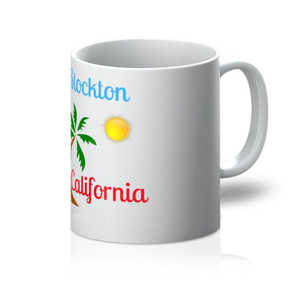 Stockton California Palm Sun Mug 11Oz Homeware