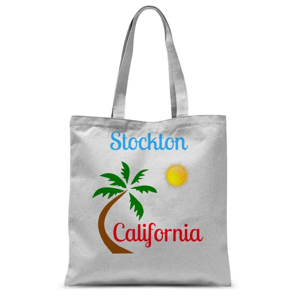 Stockton California Palm Sun Sublimation Tote Bag 15X16.5 Accessories