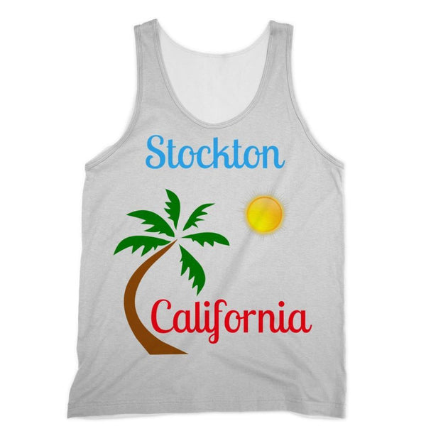 Stockton California Palm Sun Sublimation Vest Xs Apparel
