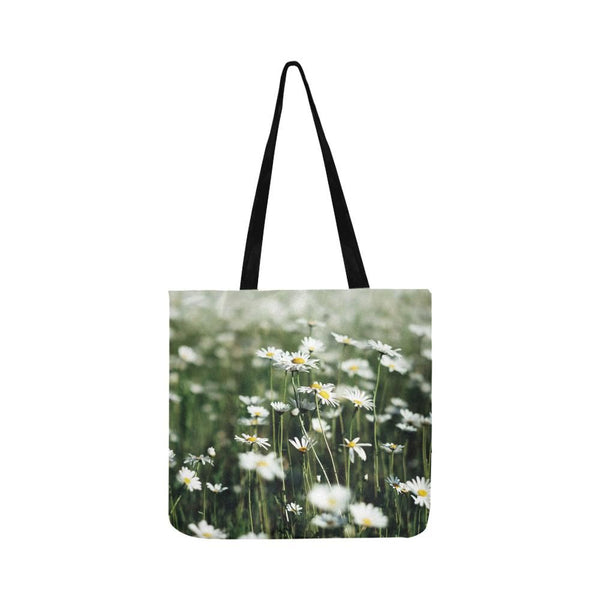 Summer Daisies Reusable Tote Shopping Bag (Two Sides) (1660)