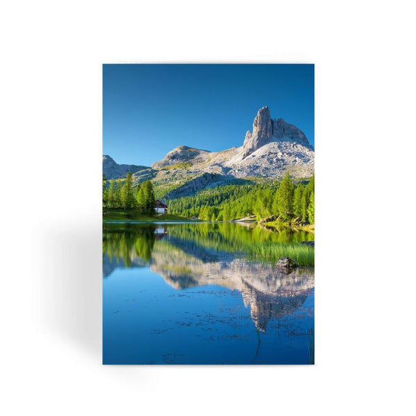 Summer Mountain Reflection Greeting Card 1 Prints