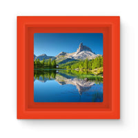 Summer Mountain Reflection Magnet Frame Red Homeware