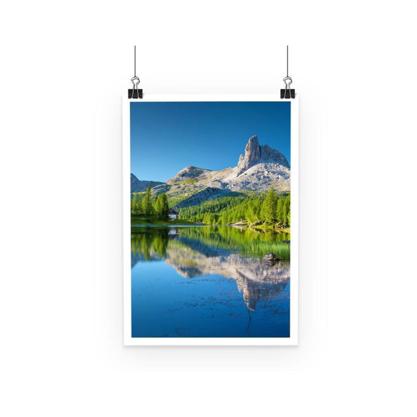 Summer Mountain Reflection Poster A3 Wall Decor