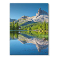 Summer Mountain Reflection Stretched Canvas 24X32 Wall Decor