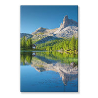 Summer Mountain Reflection Stretched Canvas 24X36 Wall Decor