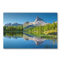 Summer Mountain Reflection Stretched Canvas 36X24 Wall Decor