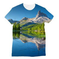 Summer Mountain Reflection Sublimation T-Shirt S Apparel