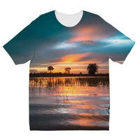 Sunset In The River Kids Sublimation T-Shirt 3-4 Years Apparel