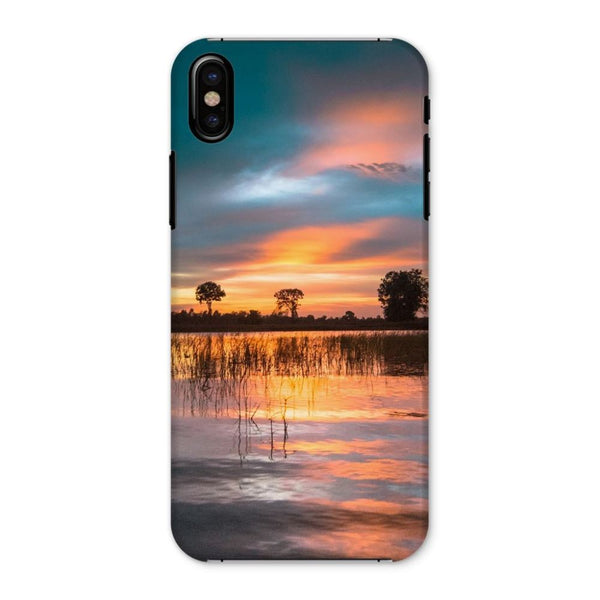 Sunset In The River Phone Case Iphone X / Snap Gloss & Tablet Cases