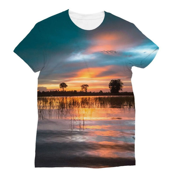 Sunset In The River Sublimation T-Shirt S Apparel